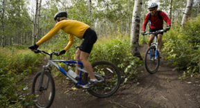 Image of People Mountain Biking