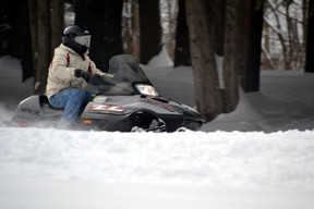 Image of Person Snowmobiling