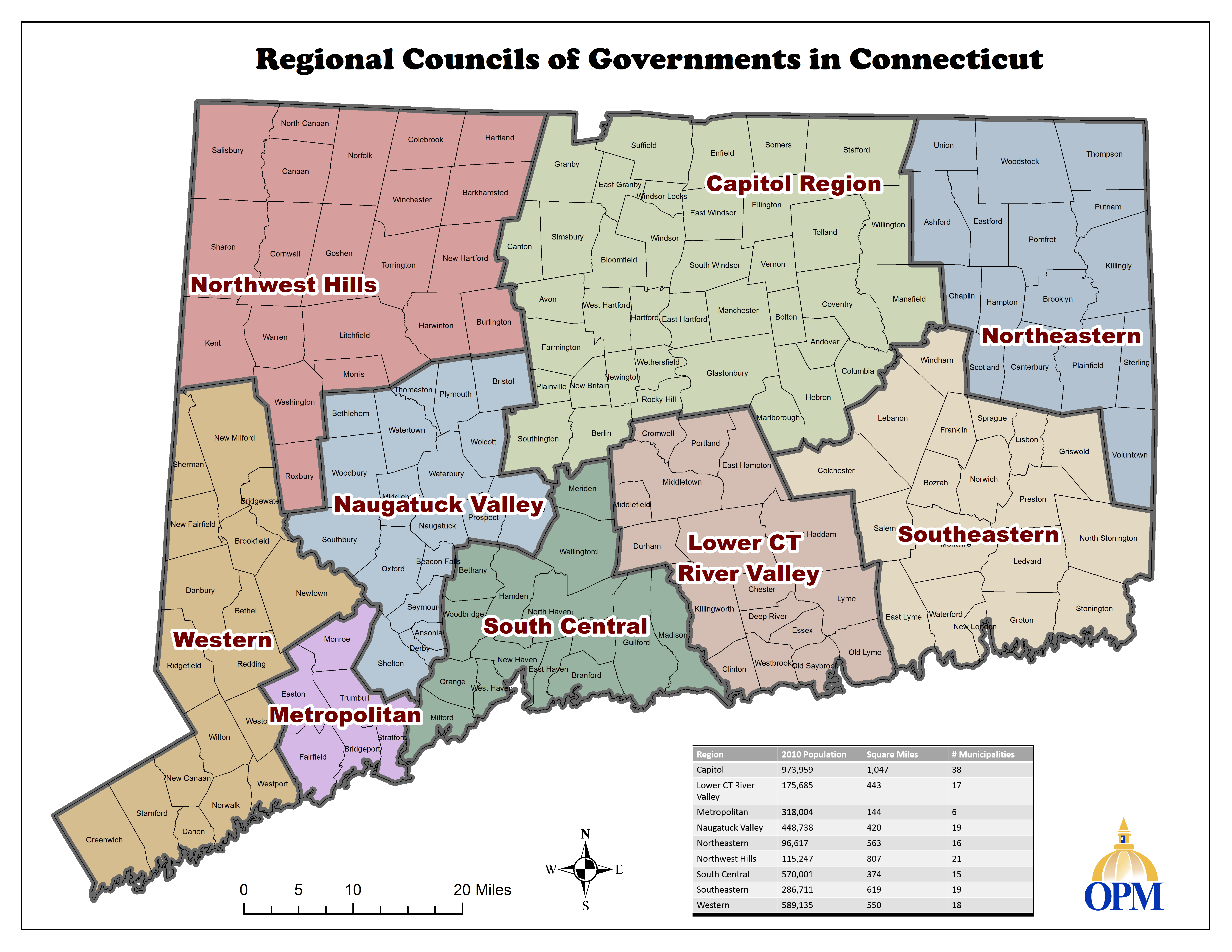 Regional Councils of Governments in Connecticut